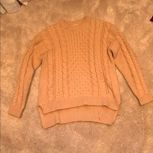 Pink/Tan knitted sweater